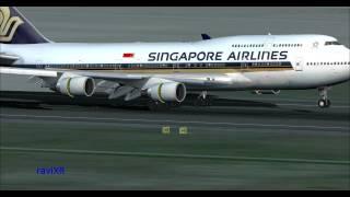 [FS2004]Singapore Airlines Boeing 747 Landing Frankfurt Airport