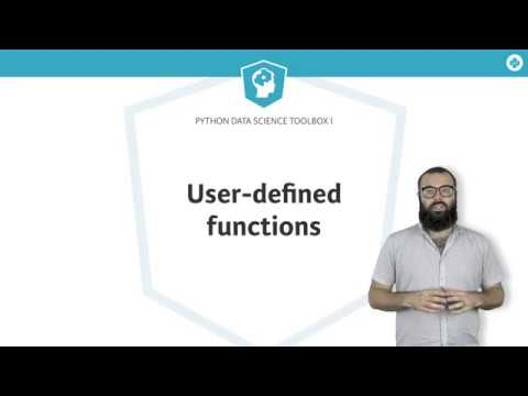 Python Tutorial: Writing user-defined functions