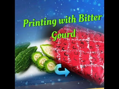 Printing with Bitter Gourd-wrapping paper Diy