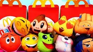 Emotki Film • Maski i maskotki z Happy Meal • McDonalds • Unboxing