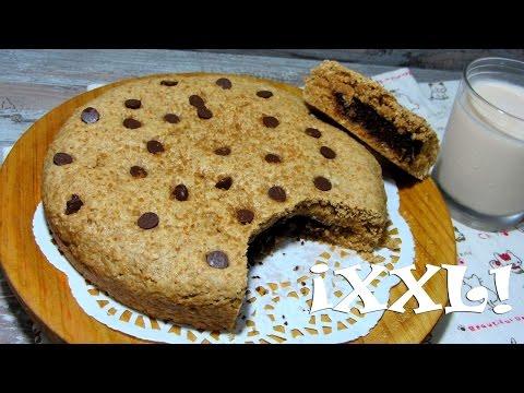 MEGA Galleta/ Cookie VEGANA GIGANTE rellena de Brownie