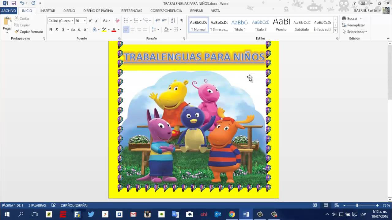 Como Imprimir en Word con fondo a color - YouTube
