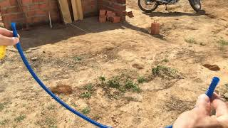 Como fazer o nivelamento da area do terreno construçao contra piso nivelar parte 1