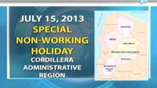 NewsLife: President Aquino declares July 15 as special non-working holiday in Cordillera