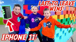 Last to leave Giant LEGO Fort wins iPhone 11!