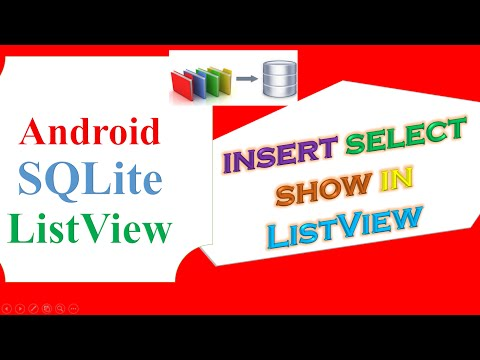 Android SQLite Database -  INSERT,SELECT, FILL ListView From EditText