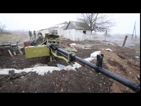 NSV 12.7mm caliber heavy machine gun. Donetsk today