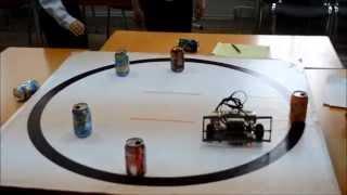 Соревнования в Академии робототехники, Пермь, 2014. Кегельринг