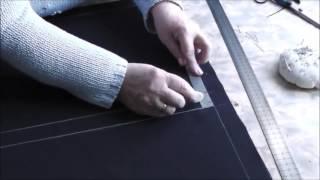 Шитье прямой юбки. Урок 2. Раскрой материала