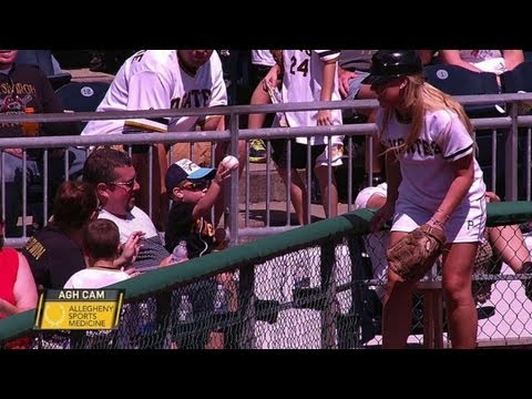 Young Fan Throws Back Foul From Ball Girl