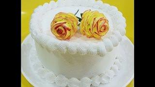 Decoração Rosas 3D com Chantininho