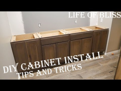 DIY How To Install Base Kitchen Cabinets   Basement Bar Build
