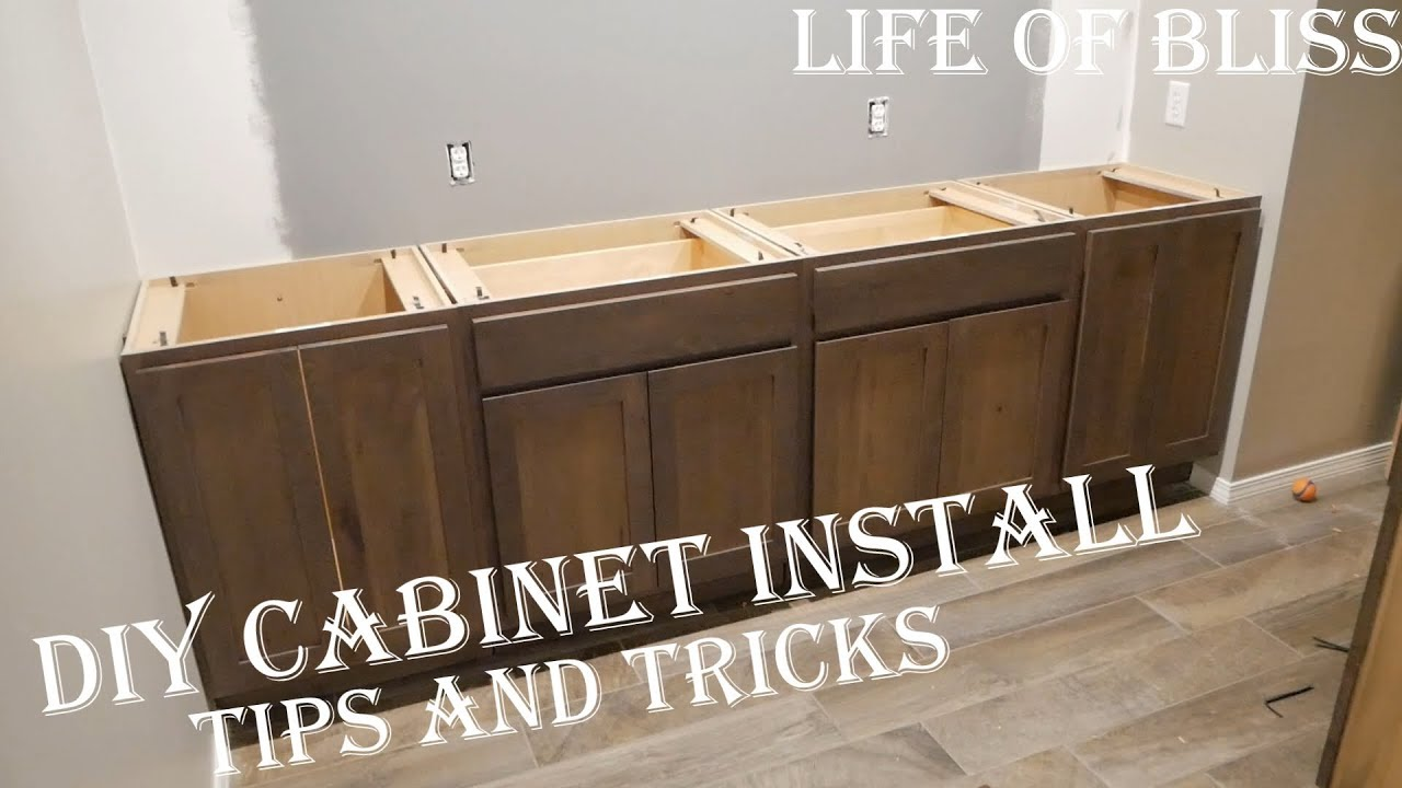 Beau DIY How To Install Base Kitchen Cabinets | Basement Bar Build