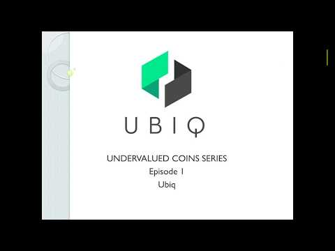 Undervalued Cryptocurrencies: Ubiq