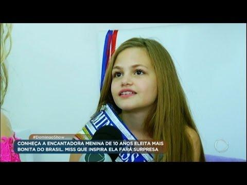 Menina Eleita A Mais Bonita Do Brasil Ganha Surpresa De Marthina Brandt