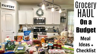 GROCERY HAUL | MEAL PLANNING FOR A FAMILY OF 6!! | ON A BUDGET! | KID-FRIENDLY MEALS