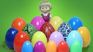 Маша и СЮРПРИЗЫ Игрушки Щенячий  Патруль Маша и Медведь Фиксики УЧИМ ЦВЕТА с цветными яйцами