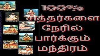 100% சித்தர்களை நேரில் பார்க்கும் மந்திரம் - Siththarkal Manthiram- Sithar- sithargal-siddhar