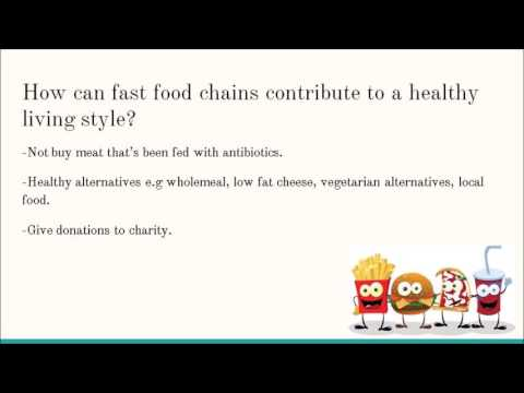 Workshop The global fast food market and healthy eating habits