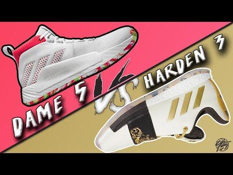 adidas-dame-5-vs-harden-vol.-3!