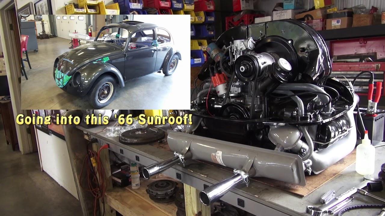 Classic VW BuGs 1300cc F Case Beetle Engine Rebuilt to Big Bore 1641cc