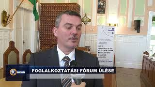 FOGLALKOZTATÁSI FÓRUM ÜLÉSE INTERJÚ KOVÁCS SÁNDORRAL
