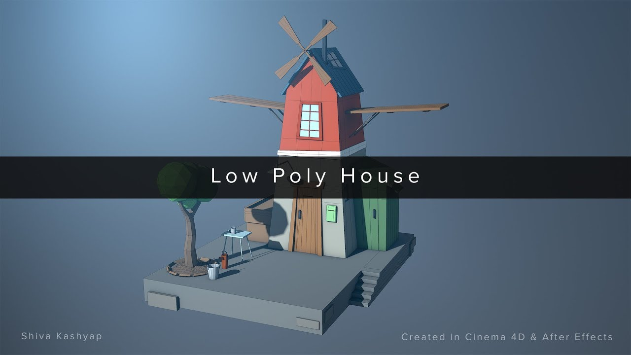 ArtStation - Low Poly House | Cinema 4D | After Effects, Shiva Kashyap