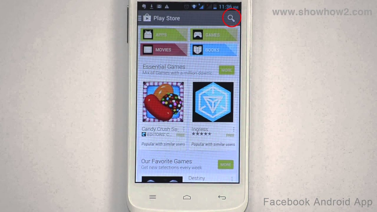 Facebook Android App How To Download And Install Facebook App On Your Mobile Youtube