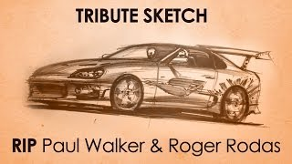 Tribute Sketch to Fast and Furious actor Paul Walker