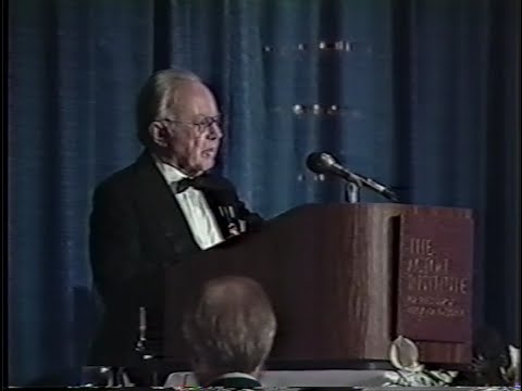 Russell Kirk Introduces William F. Buckley, Jr. - Acton Institute 1st Annual Dinner (May 12, 1992)