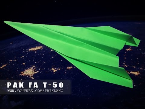 Papercraft Paper airplane Instructions: How to make a paper JET FIGHTER that FLIES flies | Pak Fa T-50