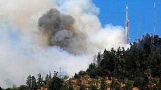 Incendio en el Cerro San Cristóbal obligó a cerrar funicular - CHV NOTICIAS