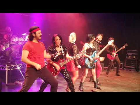 """JOANovARC and """"One Night of Rock"""" cast performing cover of """"Highway to Hell"""""""