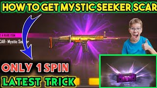 How To Get Mystic Seeker Scar Permanent Only 1 Spin New Trick From Weapon Royale In Free Fire ||