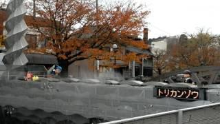 富山県氷見市出身の藤子不二雄A先生。街にはいろいろなキャラがあふれて...