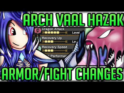 Arch Tempered Vaal Hazak - Fight Changes + Armor Review + New Layered Armor  - Monster Hunter World!