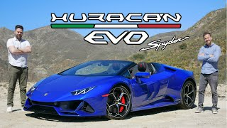 2020 Lamborghini Huracan Evo Spyder Review // Suns Out Guns Out