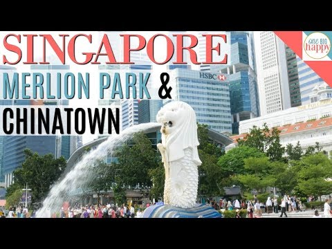 Singapore Merlion Park and Chinatown - Singapore Travel Vlog #9