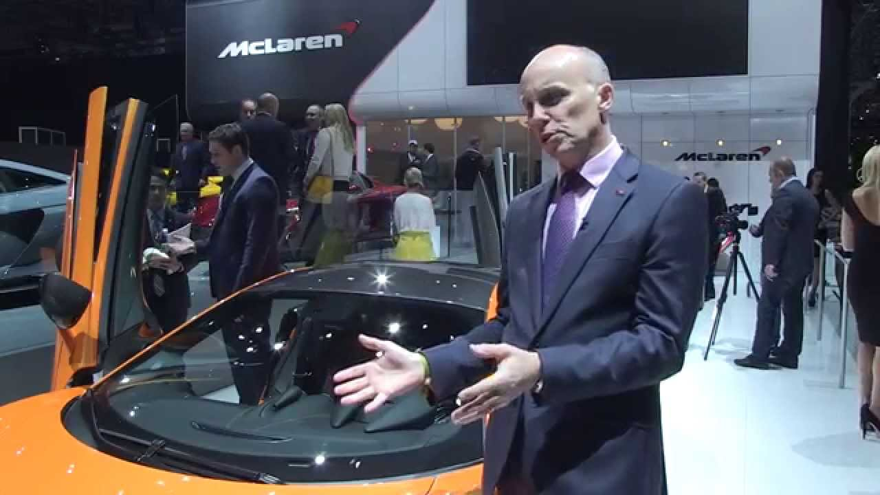 Mark Vinnels and Andy Palmer on the McLaren 570S Coupé - New York Auto Show 2015