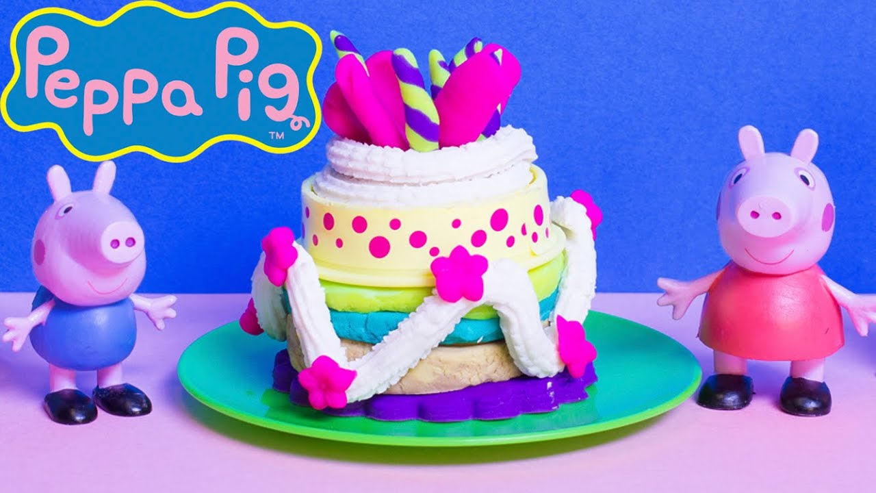 peppa pig chef peppa pig happy birthday cake how to make playdough