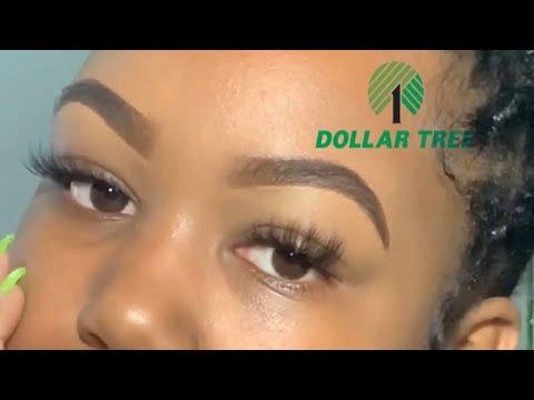 Cheap eyebrow tutorial for beginners | dollar tree | baddie on a budget | anotherblackgirl| WOC
