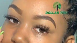 Cheap eyebrow tutorial for beginners   dollar tree   baddie on a budget   anotherblackgirl  WOC