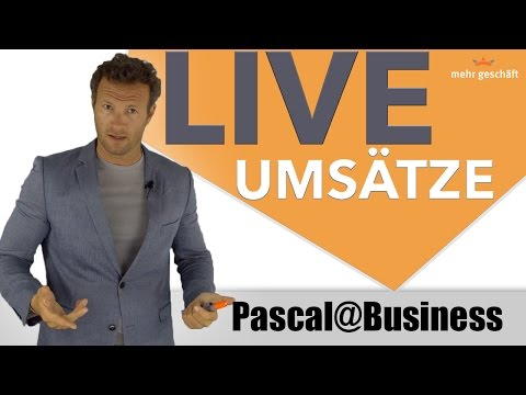 DU siehst MEINEN UMSATZ LIVE! | Mehr Geschäft |Pascal@Business