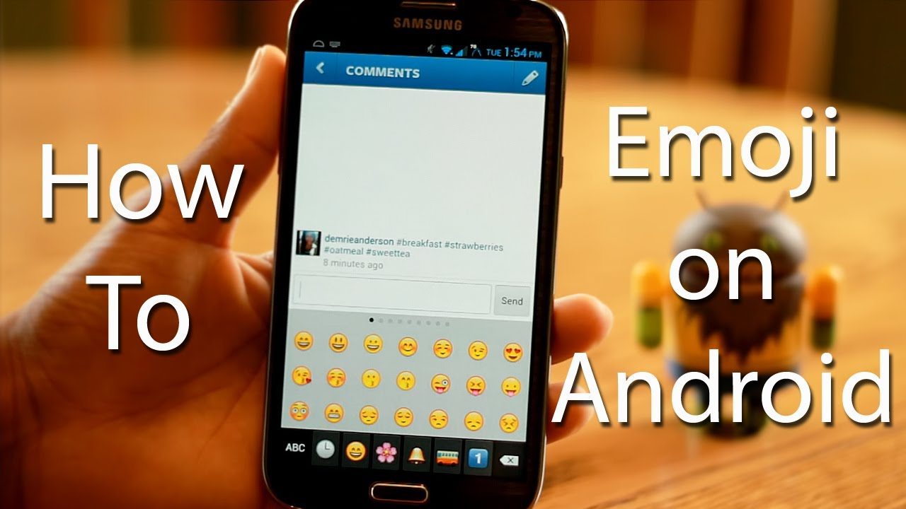 How To Version 2 Emoji On Android Youtube