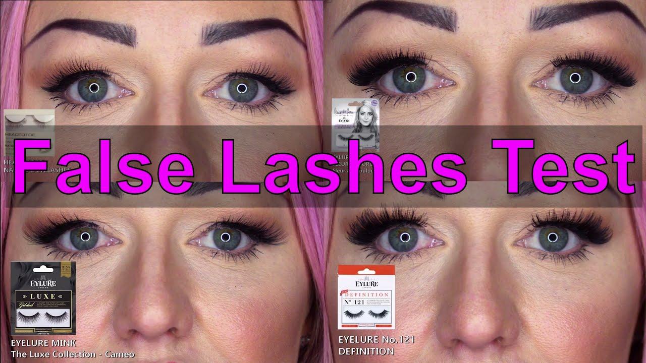 56ecd2ea30a False Eyelash Test - Natural Lashes - Winged Lashes - Full Lashes - Super  Insane Lashes