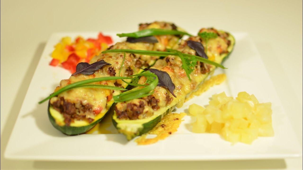 gefüllte zucchini vorbereiten