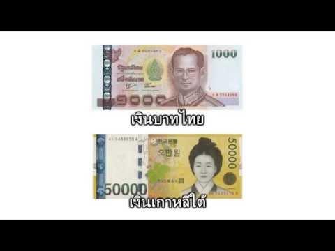 อัตราแลกเงินไทยกับเงินเกาหลี