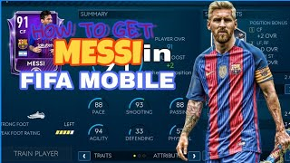 HOW TO GET MESSI FOR FREE IN Fifa Mobile