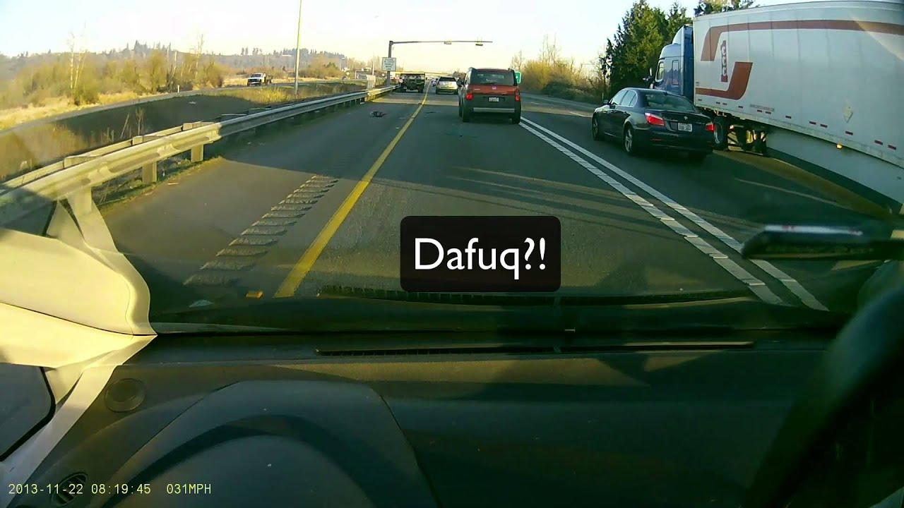 11/22 Unsecured Load \u0026 Accident on SR167 - dashcam & 11/22 Unsecured Load \u0026 Accident on SR167 - dashcam - YouTube