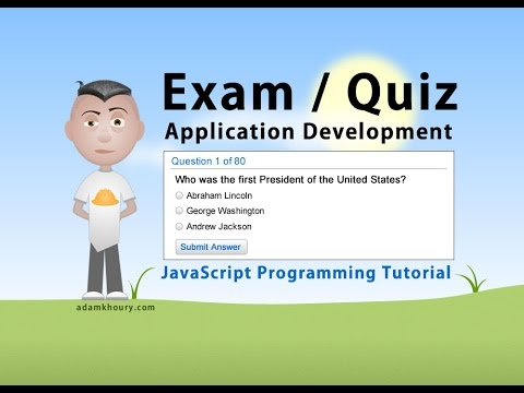 Exam Application Programming Tutorial JavaScript Quiz Online